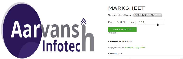 Online Marksheet Creator : eMarksheet – WordPress plugin | WordPress org