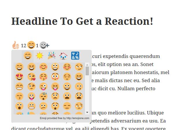 Emoji selector widget