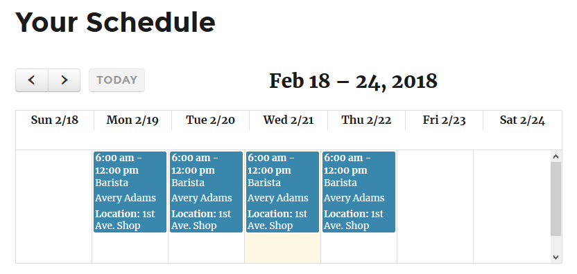 shiftee basic employee and staff scheduling wordpress org