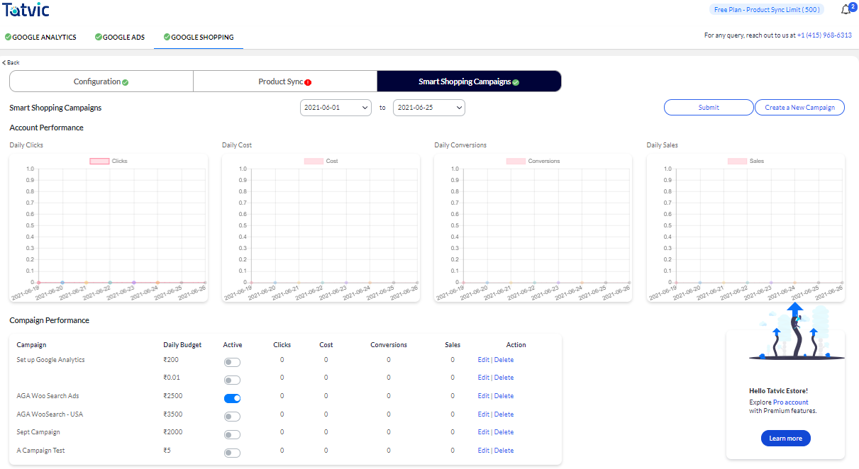 Google Analytics 4 dashboard 1 Once you connect Google Analytics 4 property from the plugin, your WooCommerce store's data will look like this in your Google Analytics 4 dashboard. The plugin captures all the data points related to eCommerce events.