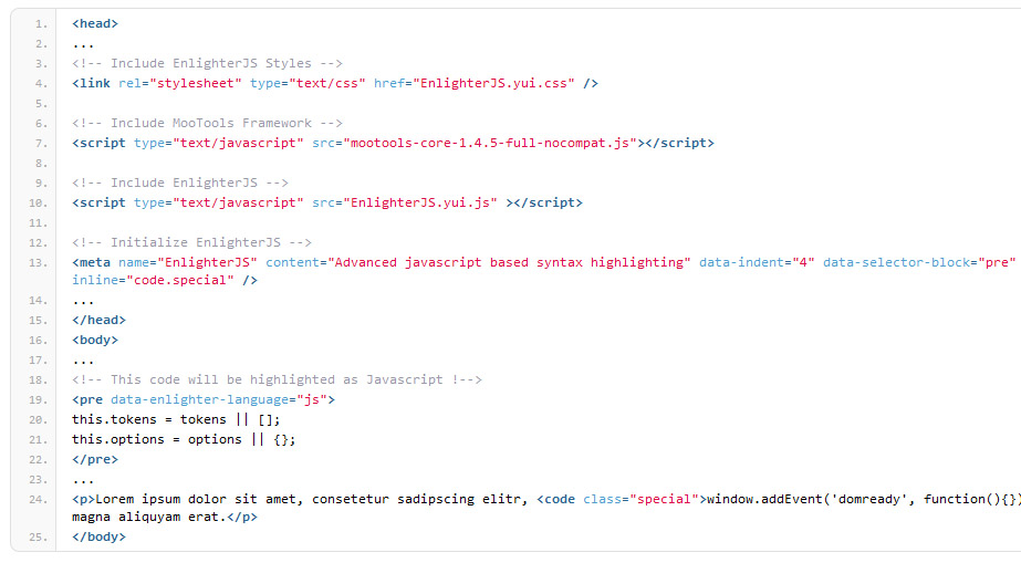 Enlighter – Customizable Syntax Highlighter – WordPress