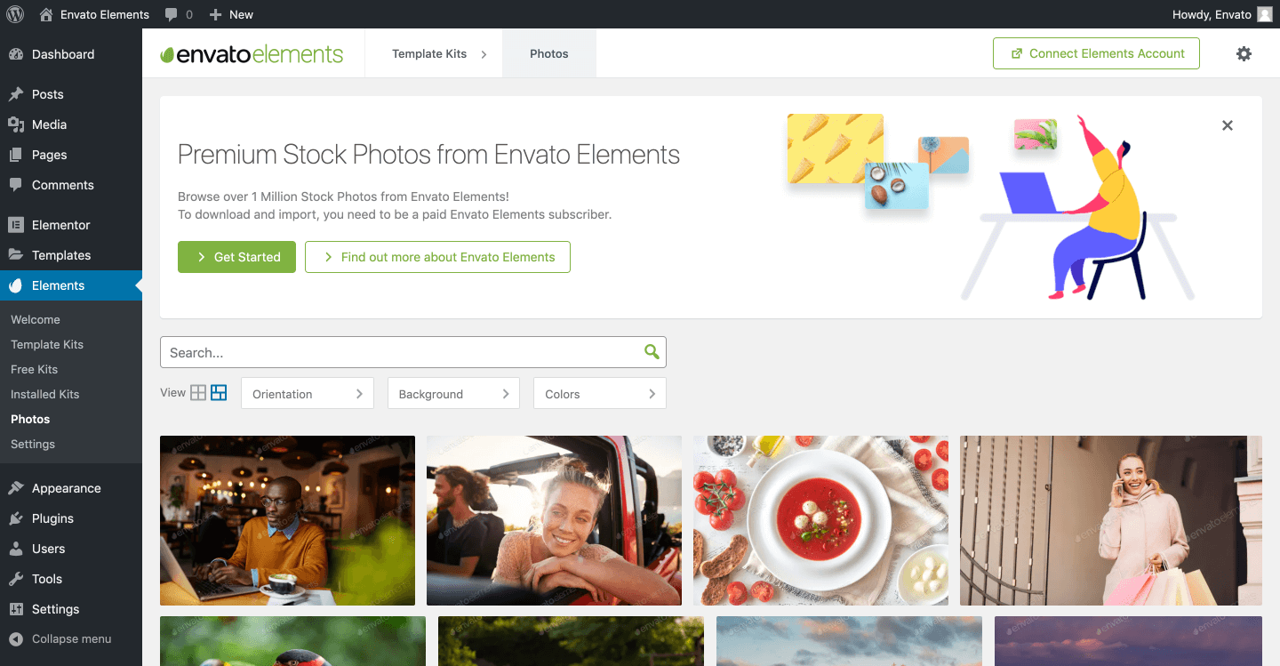 <strong>Envato Elements Photos Search.</strong>
