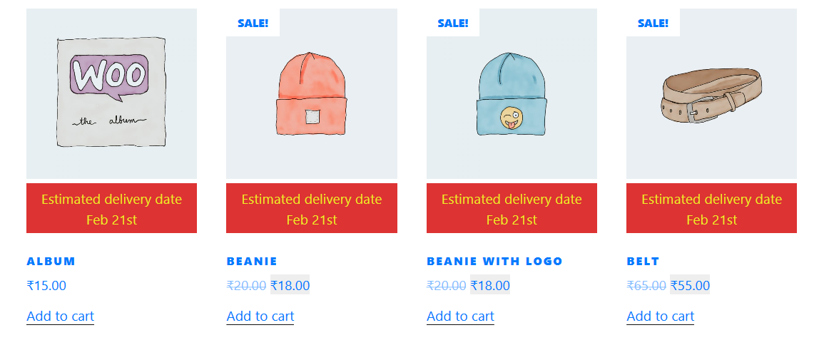 How to set product preparation days in the product page in backend