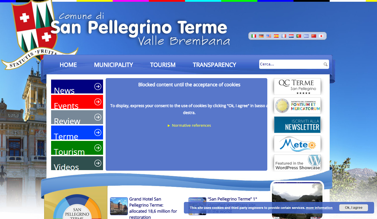 """Autoblock feature (no consent) - <a href=""""http://www.sanpellegrinoterme.gov.it"""">www.sanpellegrinoterme.gov.it</a>"""