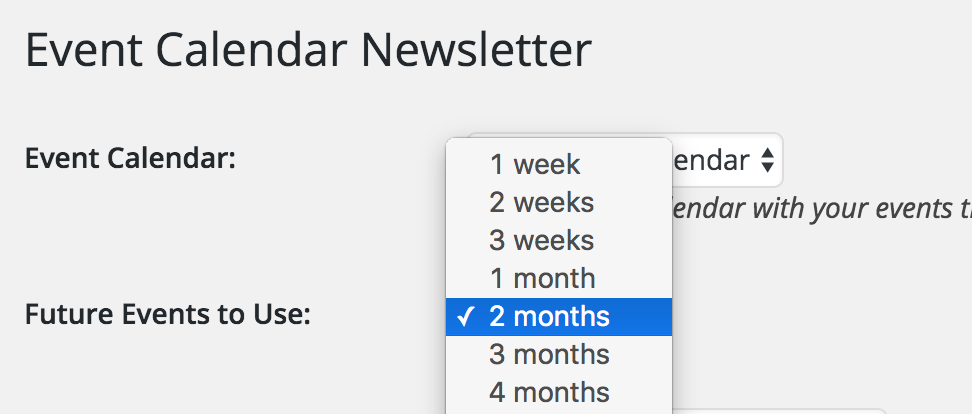 Event Calendar Newsletter Wordpress