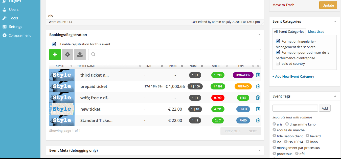 Robby Ticketing System for Events Manager — WordPress Plugins