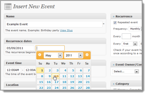 events manager wordpress org