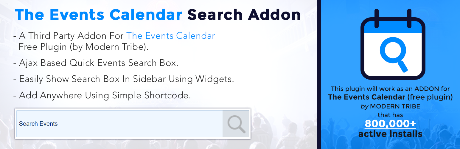 The Events Calendar Search Addon