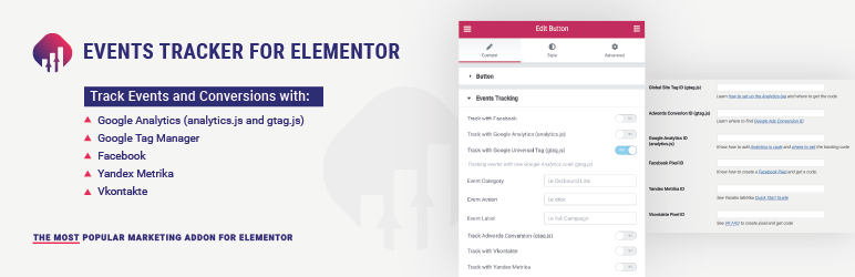 Events Tracker For Elementor