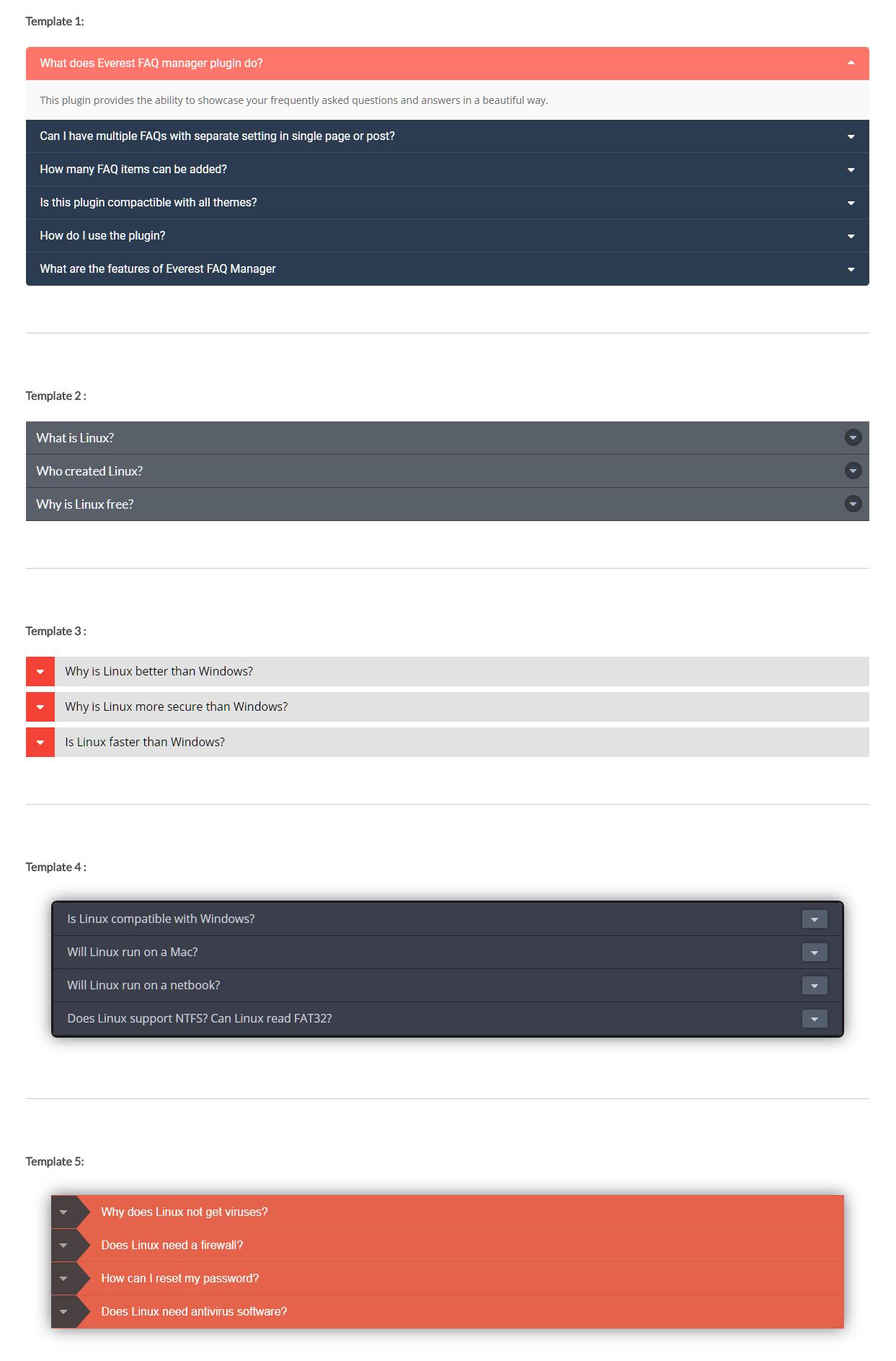 Beautiful FAQ Plugin for WordPress – Everest FAQ Manager Lite