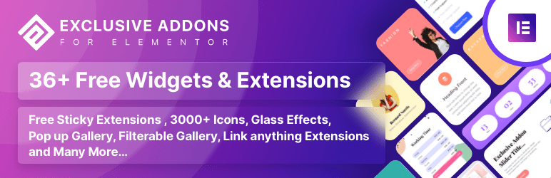 Exclusive Addons Fore Elementor