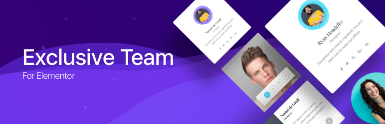 Exclusive Team Addon For Elementor