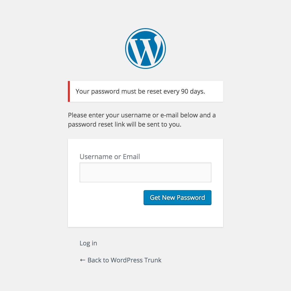 Expire User Passwords