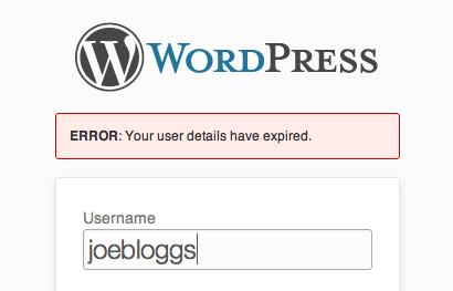 登録ユーザーがサイトにログインできる期間(期限)を設定できるプラグイン「Expire Users」の画像|Knowledge Base