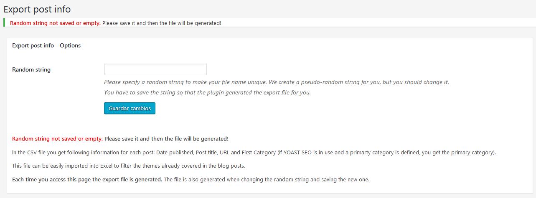 Export Post Info – WordPress plugin | WordPress org