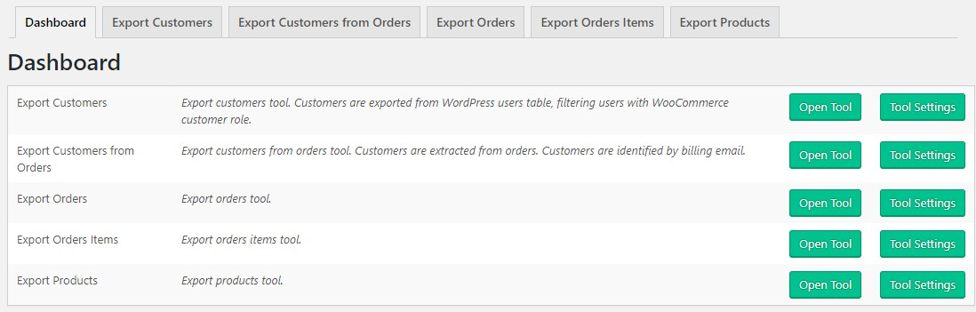 Products & Order Export for WooCommerce