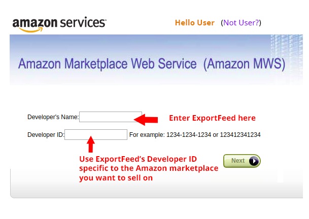 Click On Sign in with Amazon button