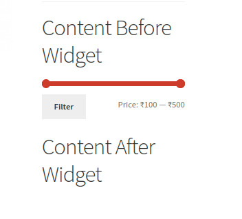 <p>Appearance of Filter Products by Price Widget on front-end website based on settings.</p>