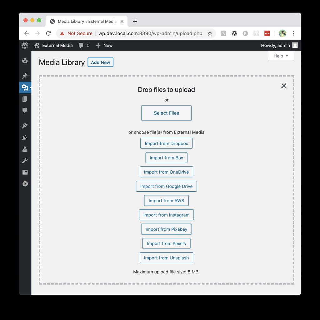External Media – WordPress plugin   WordPress org