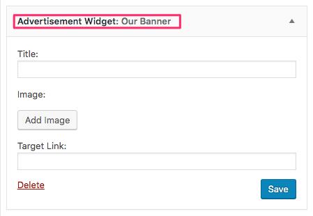 Advertisement Widget