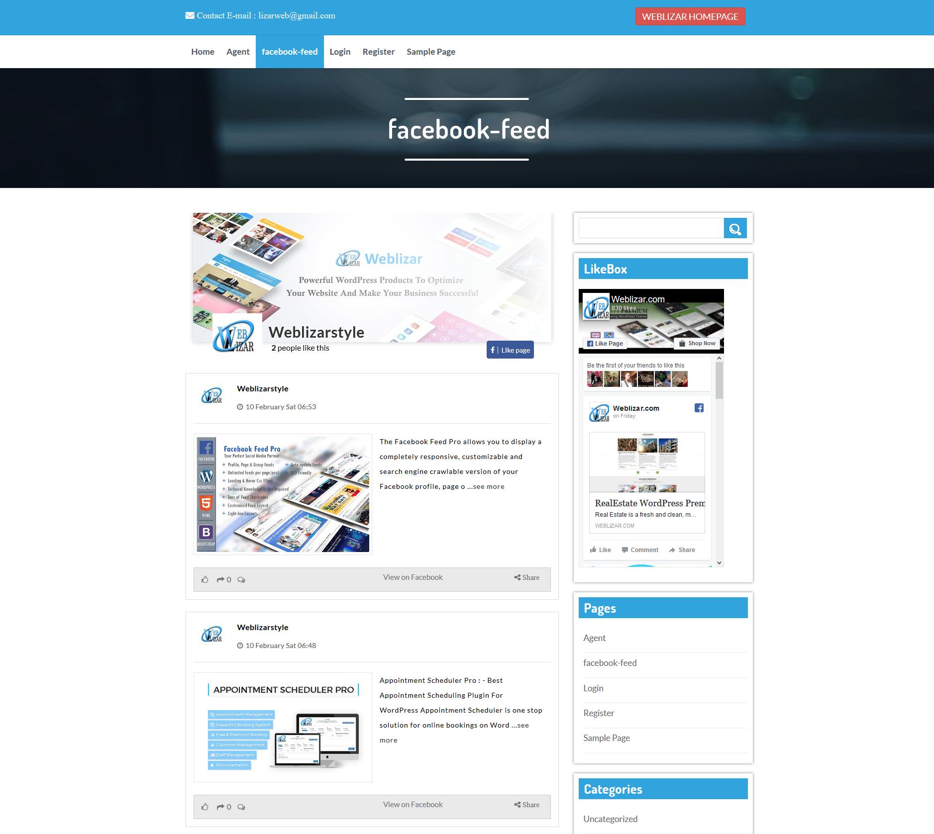 Social LikeBox & Feed – WordPress plugin | WordPress org