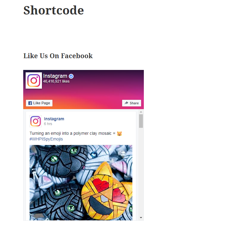 screenshot-3.png - Shows how your plugin will display in Page or Post as Shortcode.