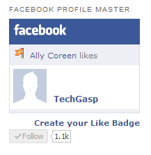 Facebook Profile Master Like Widget and Buttons Widget