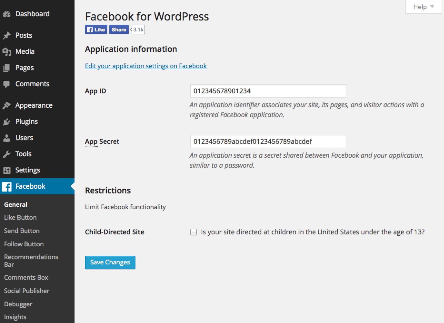 Wordpress Facebook eklentisi