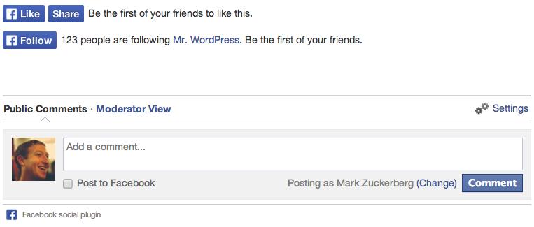 Wordpress Facebook Eklentisi 1