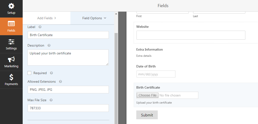 Fancy Fields For WPForms Including File Upload
