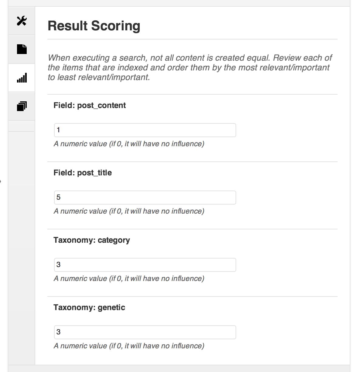 Alter the result scoring behavior