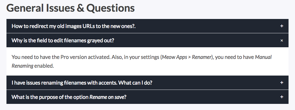 FAQ Block