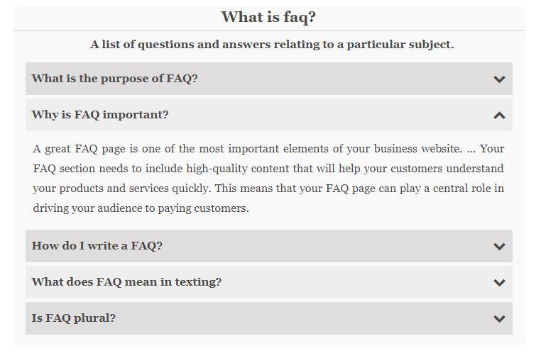 FAQ Builder AYS