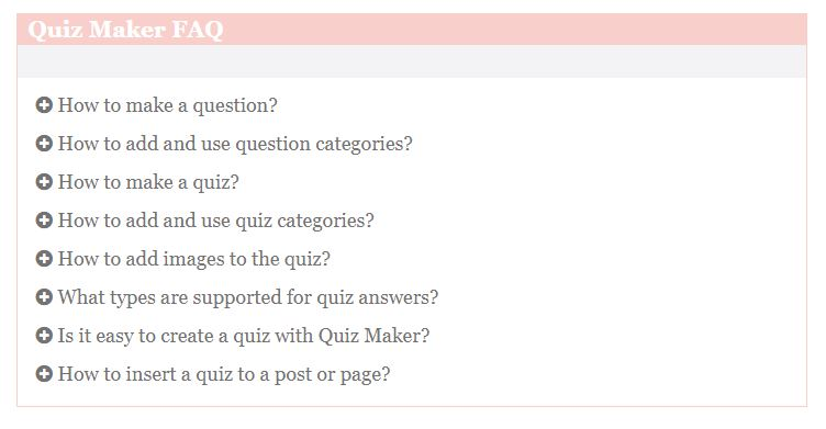 FAQ Builder - front end preview plus