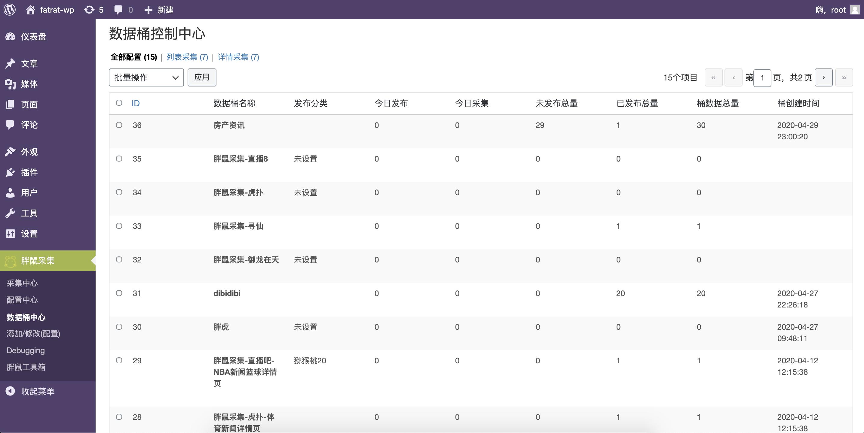 胖鼠采集(Fat Rat Collect) 微信知乎简书腾讯新闻列表分页采集, 还有自动采集、自动发布、自动标签、等多项功能。开源插件