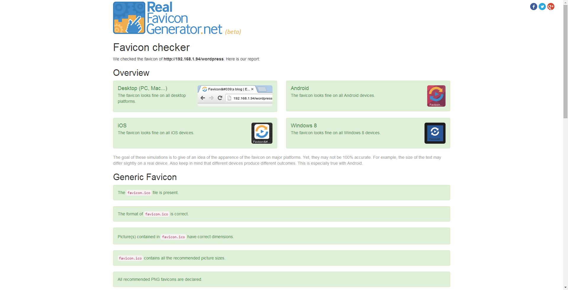 You can also trigger RealFaviconGenerator's favicon checker, to make sure your favicon is correctly setup.