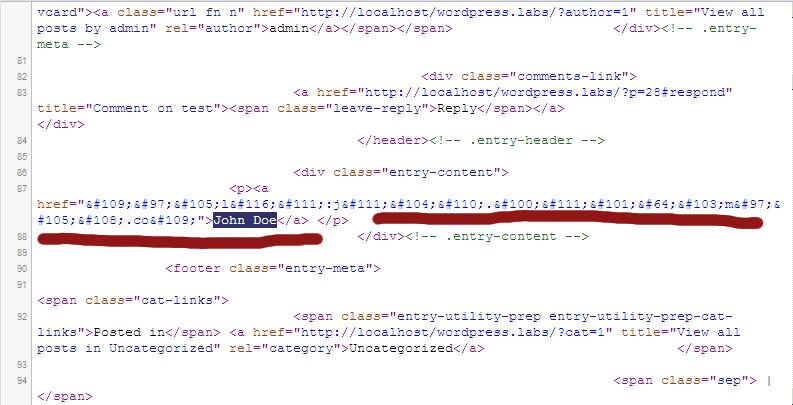 <p>HTML source code</p>