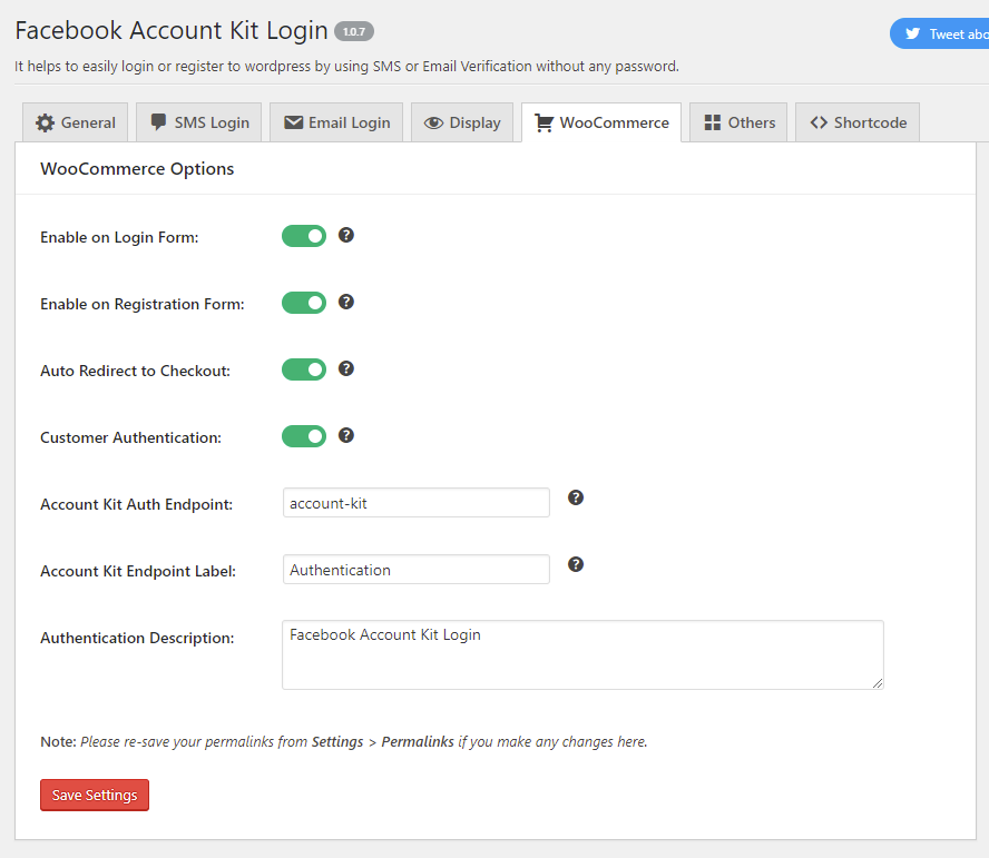 Passwordless Login with OTP / SMS & Email – Facebook Account