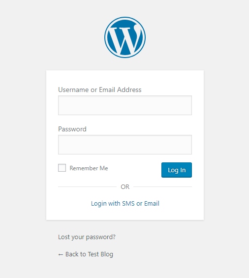 Default Login Form