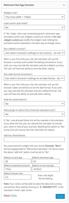Fc S Retirement Nest Egg Calculator WordPress 插件 WordPress Org China 简体中文
