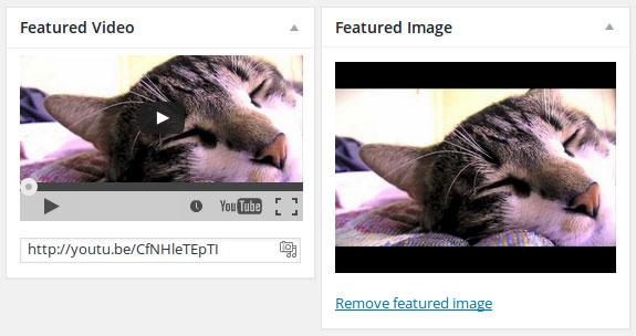 insérer une vidéo en avant dans WordPress