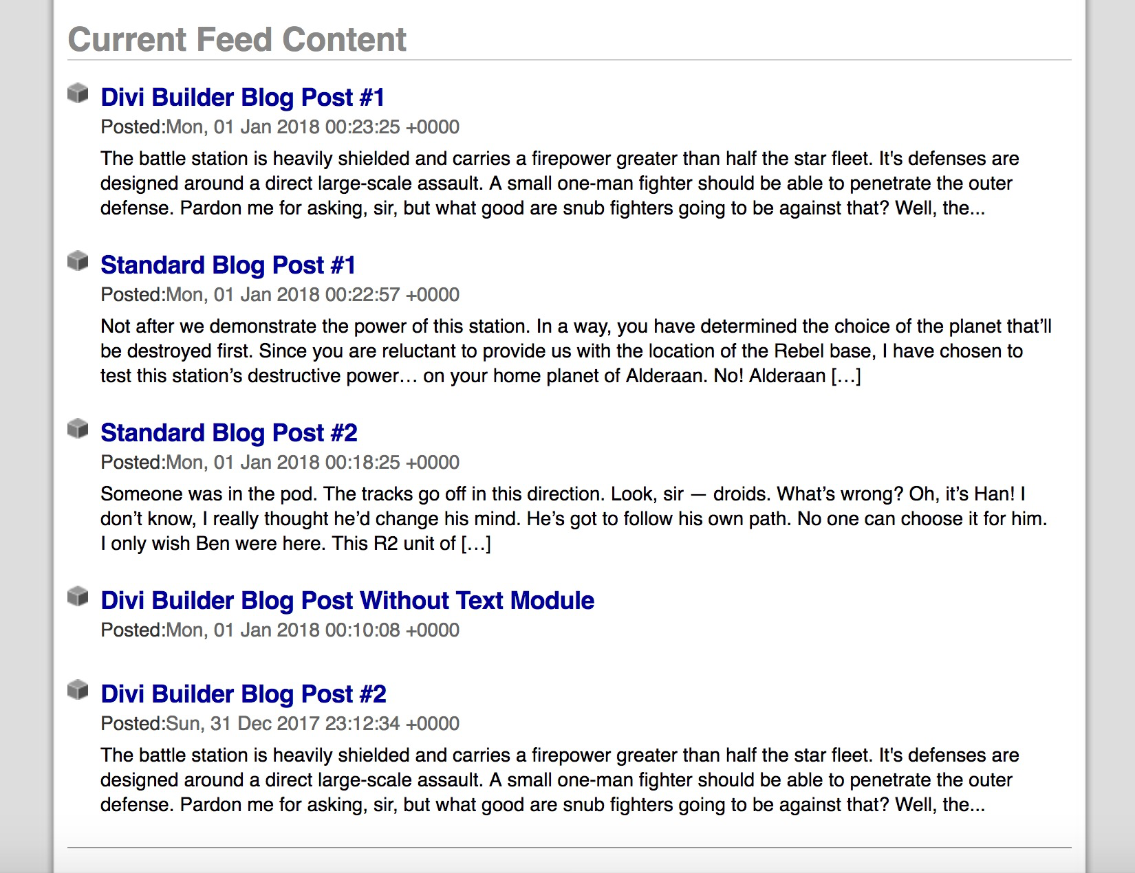 Sample RSS Feed Using This Plugin