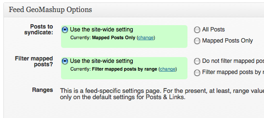 Feed GeoMashup feed-specific overrides