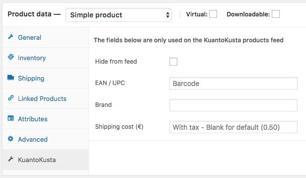 Product level settings