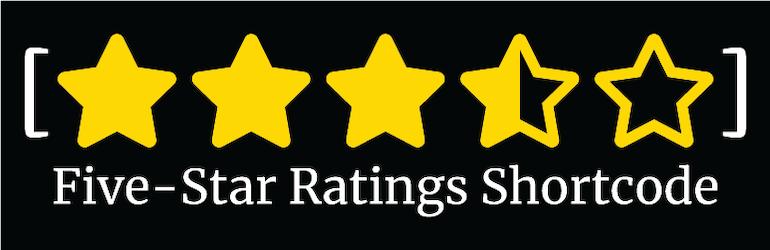 Five-Star Ratings Shortcode