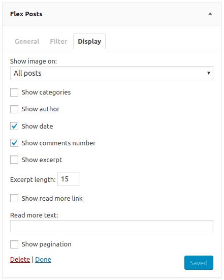 Flex Posts – Widget and Gutenberg Block – WordPress plugin