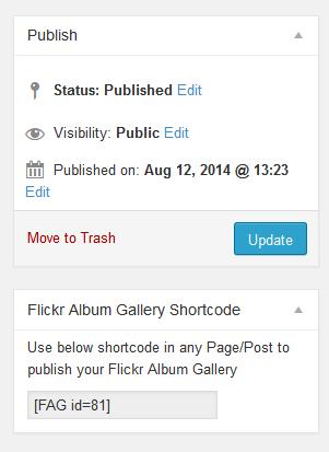 Flickr Album Gallery Shortcode