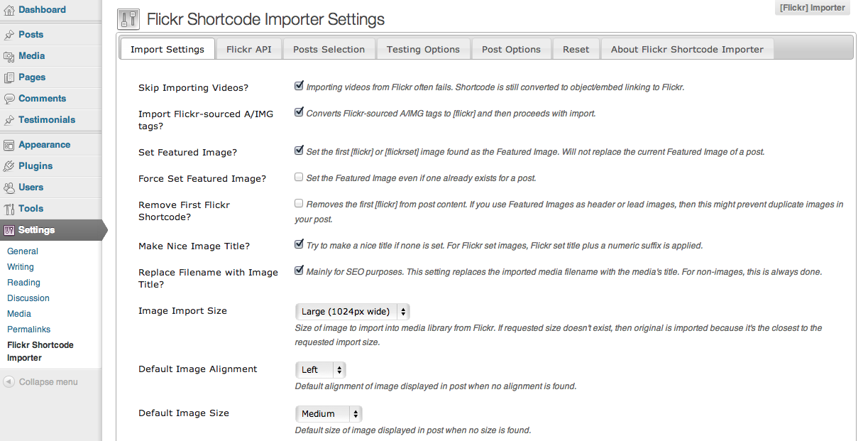 flickr-shortcode-importer screenshot 6