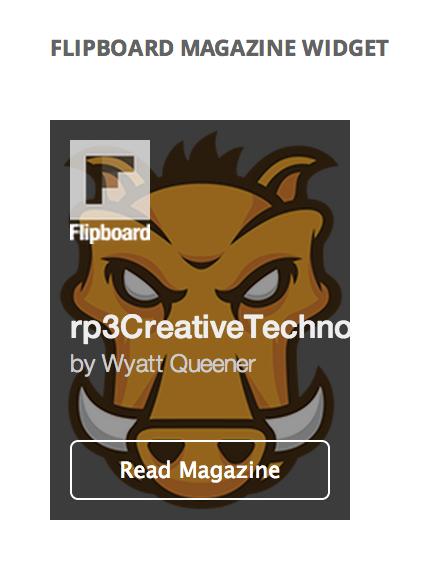 Flipboard Magazine Widget