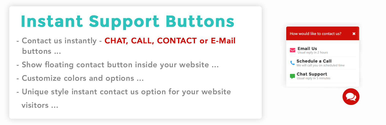 Floating Contact Buttons – Whatsapp, FB Messenger, Call Now etc
